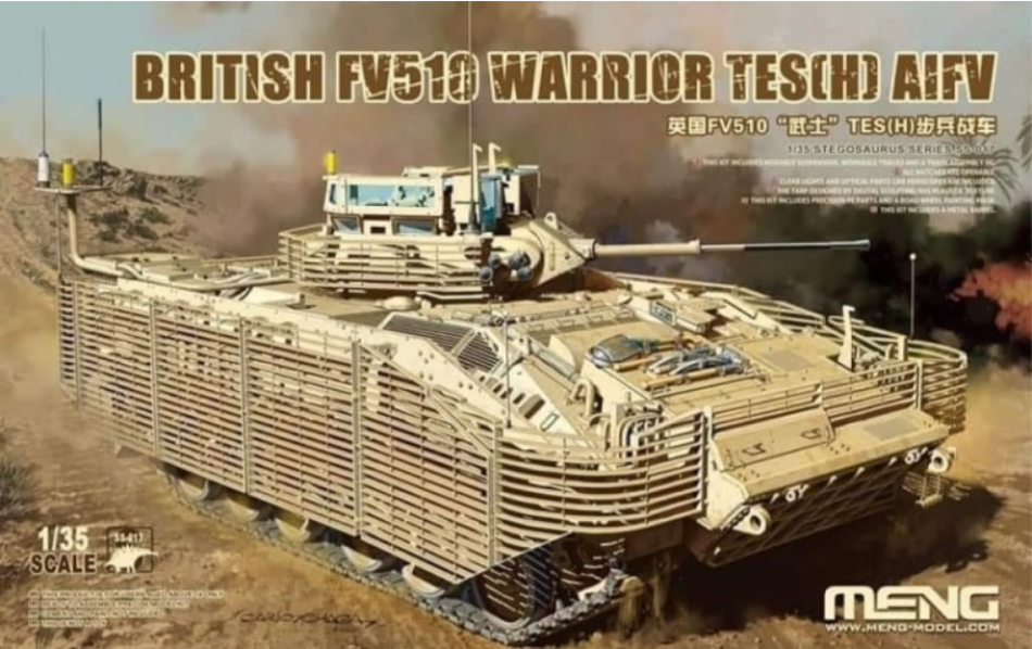 Meng SS-017 1/35 British FV510 Warrior TES(H) AIFV - BlackMike Models