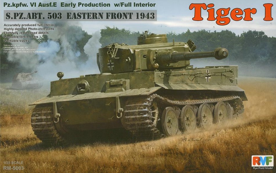 Rye Field Model RM-5003 1/35 Tiger I, Early Prod. Full Interior - BlackMike Models
