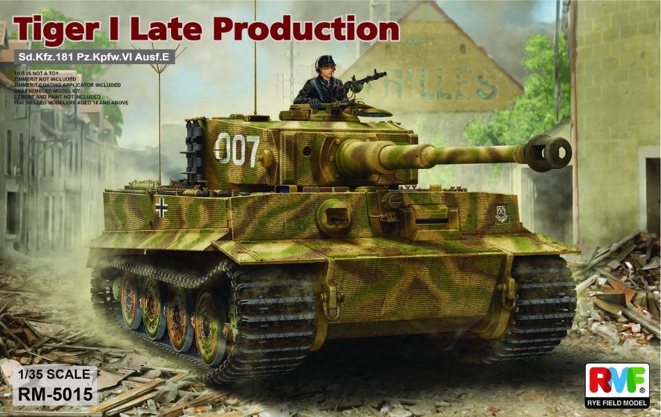 Rye Field Model RM-5015 1/35 Tiger I, Late Production - BlackMike Models