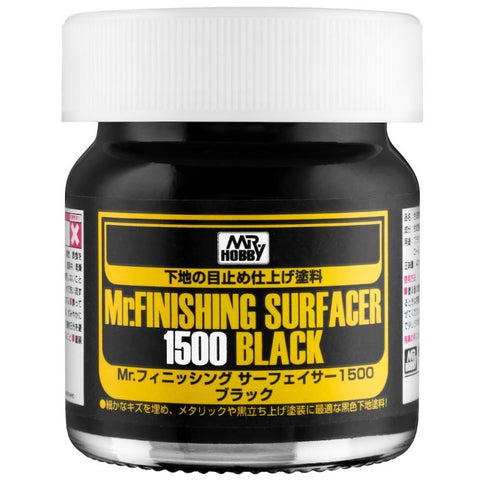 Mr Hobby, Mr Finishing Surfacer 1500 Black 40ml - BlackMike Models
