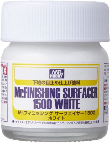 Mr Hobby, Mr Finishing Surfacer 1500 White 40ml - BlackMike Models