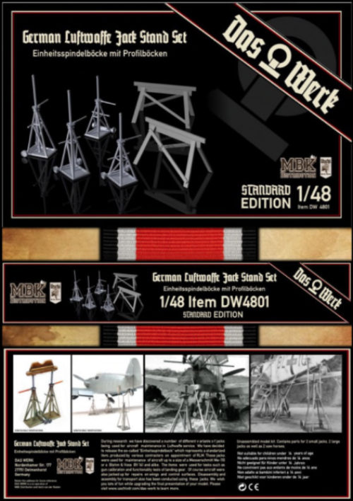 Das Werk DW4801 1/48 Luftwaffe Jack Stand Set - Standard version - BlackMike Models