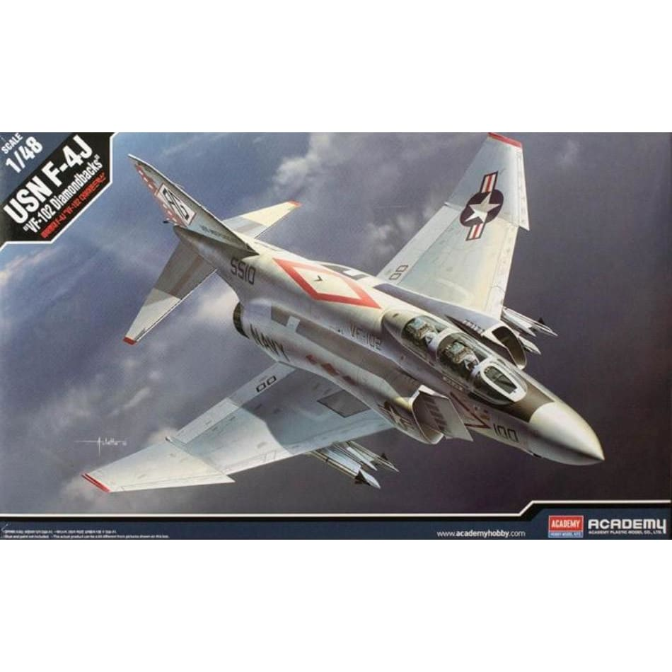 Academy 12323 1/48 USN F-4J Phantom VF-102 Diamondbacks - 1/48 Aircraft