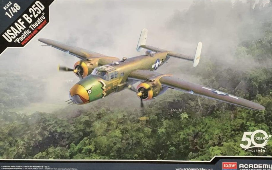 Academy 12328 1/48 USAAF B-25D 'Pacific Theatre' - BlackMike Models