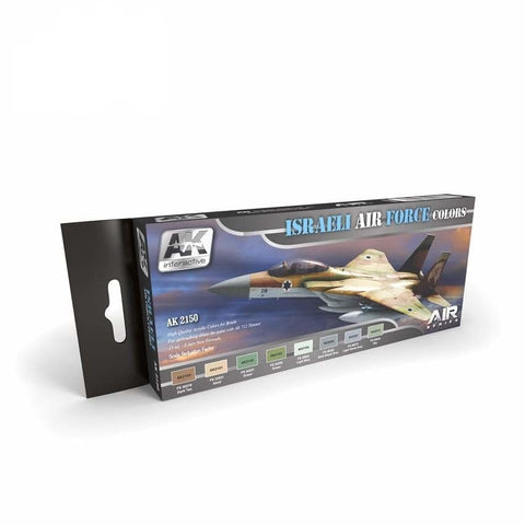 AK Interactive AK2150 Israeli Air Force Colours Air Series set - BlackMike Models