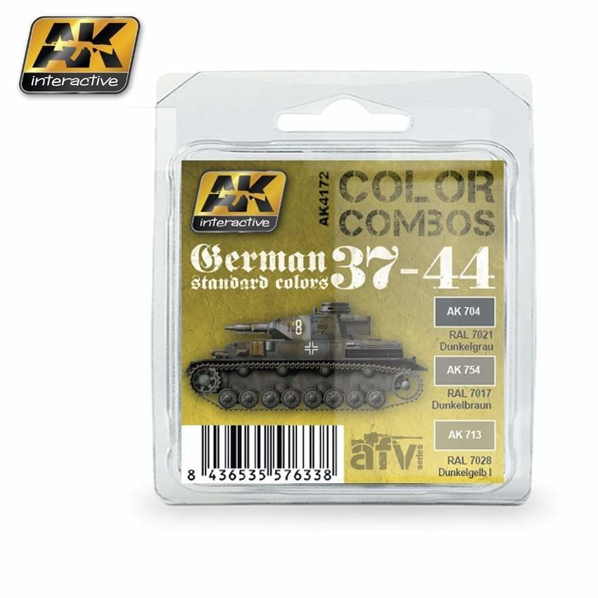 AK Interactive AK4172 German Standard 1937-1944 Colour Combo paint set - BlackMike Models