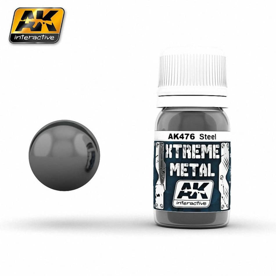 AK Interactive AK476 Xtreme Metal Steel - Paints and Varnishes