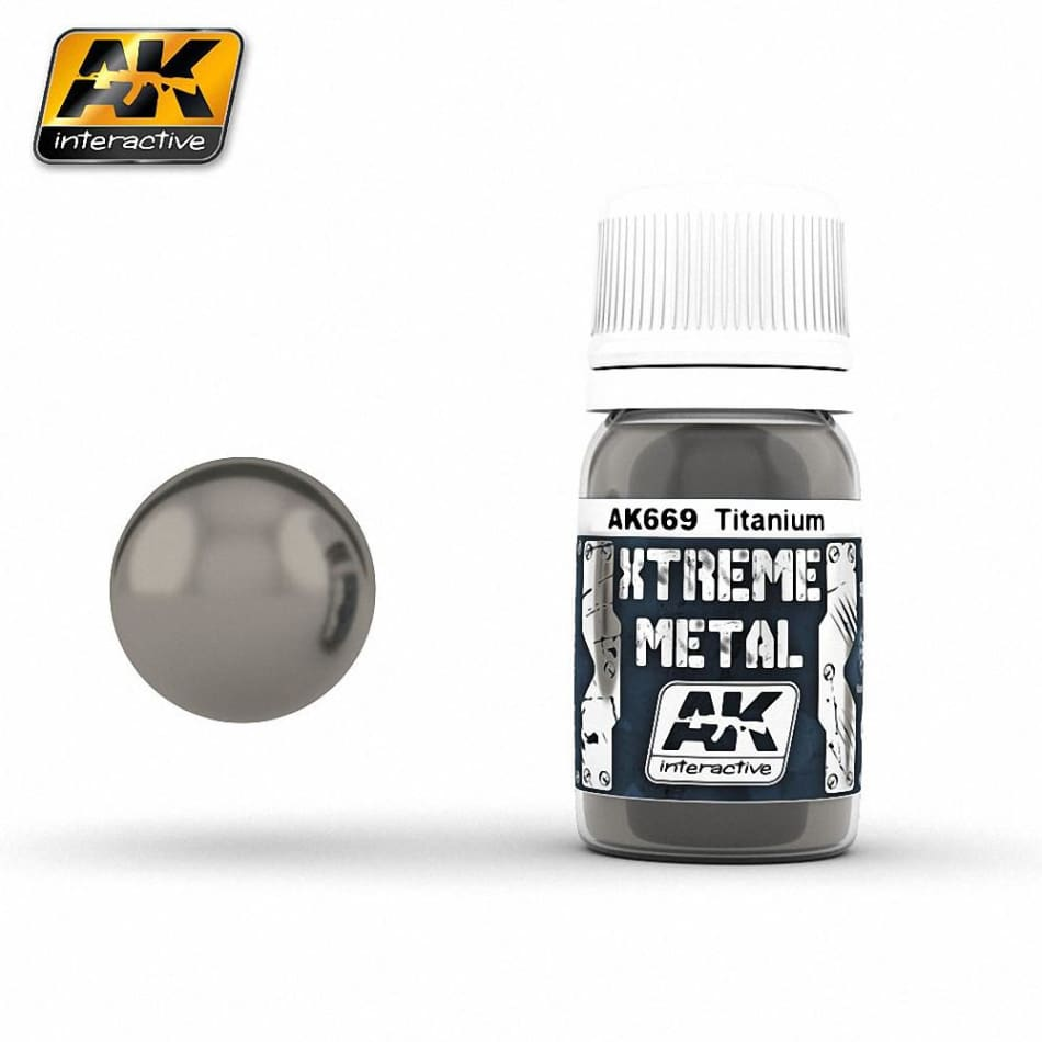 AK Interactive AK669 Xtreme Metal Titanium - Paints and Varnishes