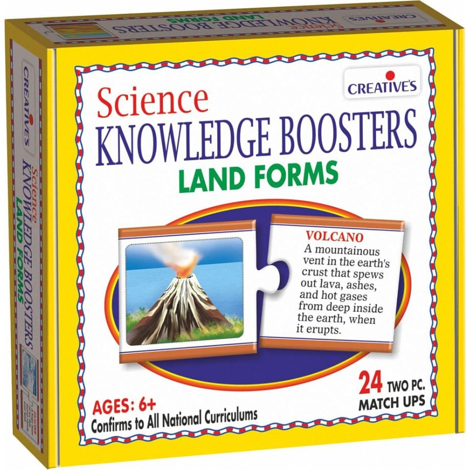 Creative Science Knowledge Boosters - Land Forms - BlackMike Models