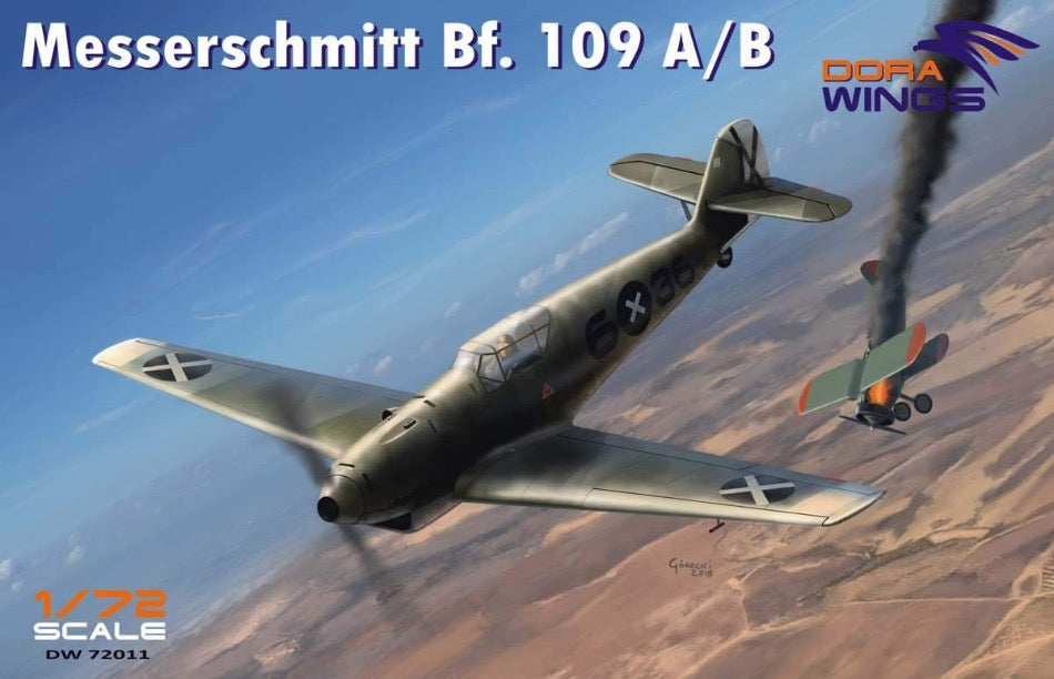Dora Wings DW72011 1/72 Messerschmitt Bf109 A/B Legion Condor - BlackMike Models