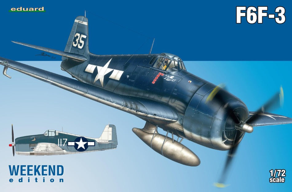 Eduard 7441 1/72 Grumman F6F-3 Hellcat Weekend Edition - BlackMike Models