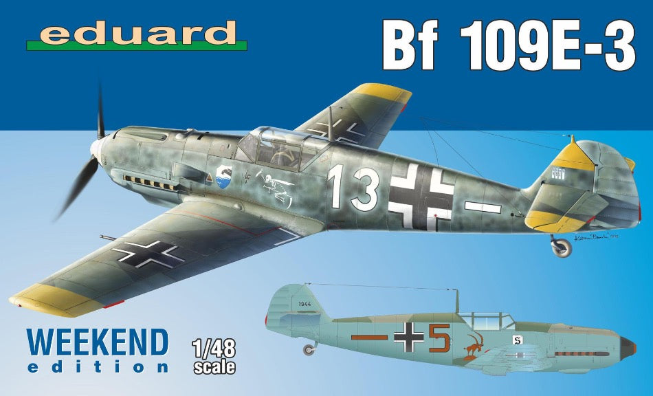 Eduard 1/48 84157 Messerschmitt Bf109E-3 Weekend Edition - BlackMike Models