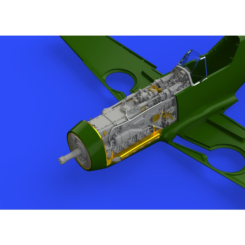 Eduard Brassin 648300 1/48 Bf109F Engine and Fuselage gun set - 1/48 Detailing Set