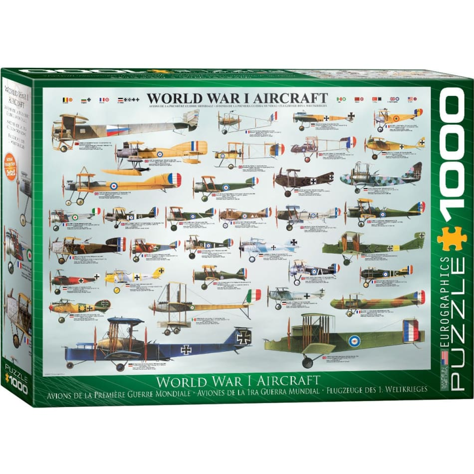 Eurographics Jigsaw Puzzle 1000 pieces  WWI Aircraft - BlackMike Models