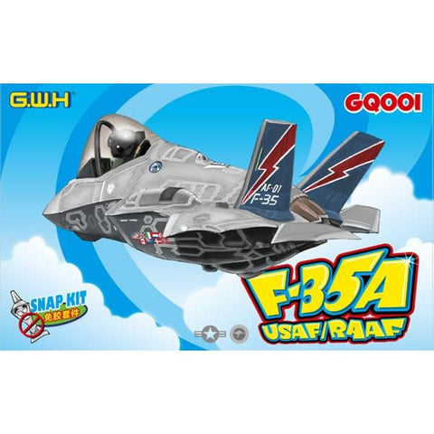 Great Wall Hobby GQ001 F-35A Lightning II USAF/RAAF snap kit - Kids Kits