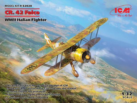ICM 32020 1/32 scale Fiat CR.42 Falco WW2 Italian Fighter - BlackMike Models