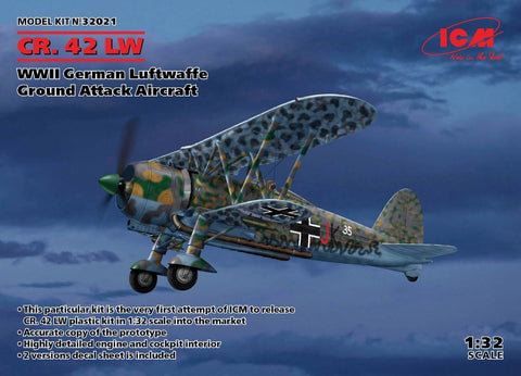 ICM 32021 CR.42LW WWII German Luftwaffe Ground Attack Aircraft - BlackMike Models