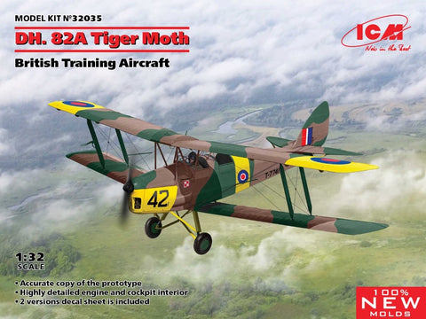 ICM 32035 1/32 scale DH.82A Tiger Moth British Training Aircraft - BlackMike Models