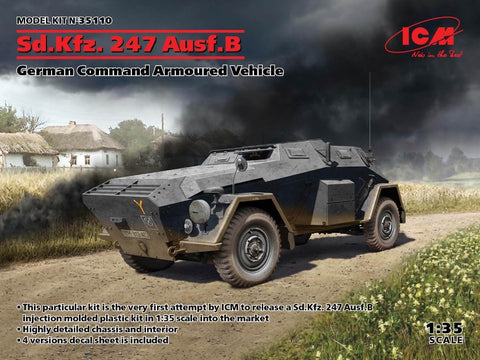 ICM 35110 Sd.Kfz.247 Ausf.B German Armoured Vehicle - BlackMike Models