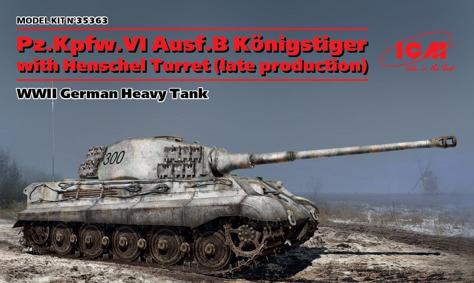 ICM 35363 1/35 scale King Tiger with Henschel Turret Late Production - BlackMike Models