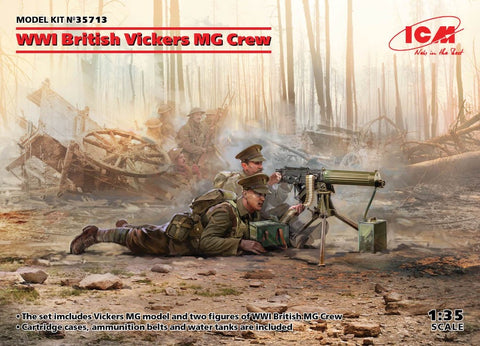 ICM 1/35 scale WW1 British Vickers Machine-gun crew - BlackMike Models