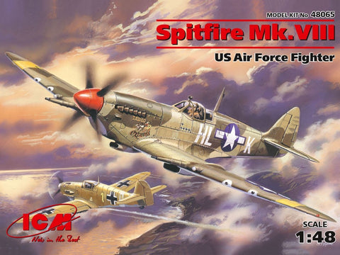ICM 48065 1/48 Supermarine Spitfire Mk.VIII USAAF Fighter - BlackMike Models