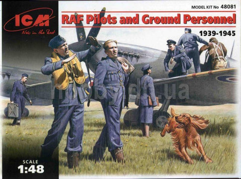 ICM 48081 RAF Pilots and Ground Personnel 1939 - 1945 - BlackMike Models
