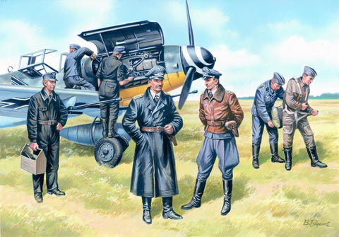 ICM 48082 Luftwaffe Pilots and Ground Personnel 1939 - 1945 - BlackMike Models