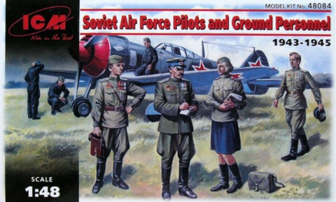 ICM 48084 Soviet Pilots and Ground Personnel 1943-1945 - BlackMike Models