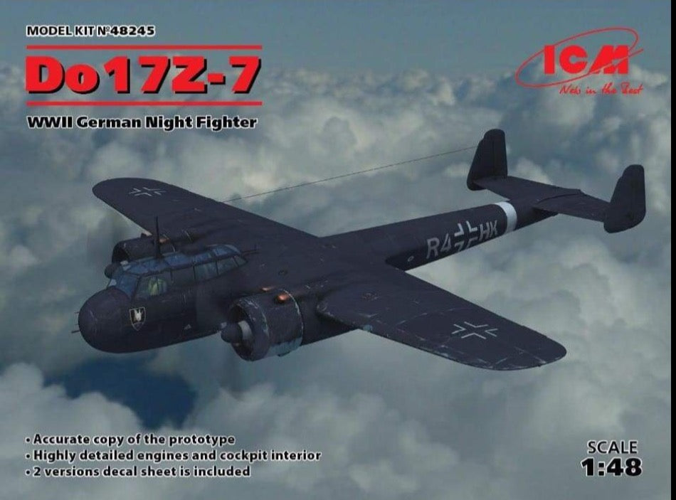 ICM 48245 1/48 Dornier Do 17Z-7 WW2 Luftwaffe Nightfighter - BlackMike Models