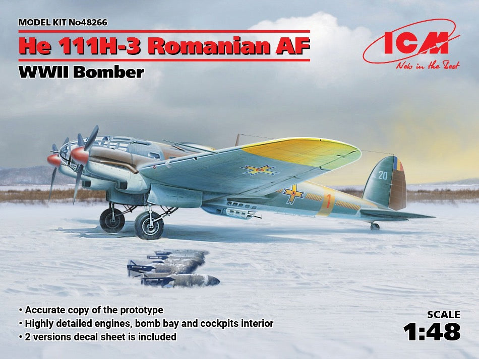 ICM 48266 1/48 He 111H-3 WW2 Romanian Air Force - BlackMike Models