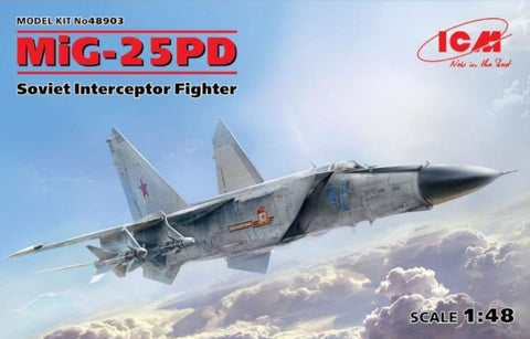 ICM 48903 1/48 Mig-25 PD Soviet Interceptor - BlackMike Models