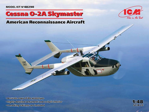 ICM 48290 1/48 Cessna O-2A Skymaster American Reconnaissance Aircraft - BlackMike Models