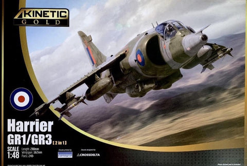 Kinetic K48060 1/48 scale Hawker Harrier GR1/GR3 - BlackMike Models