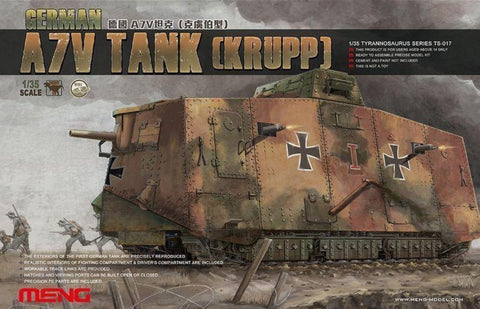 Meng TS-017 1/35 German A7V Tank (Krupp) - BlackMike Models
