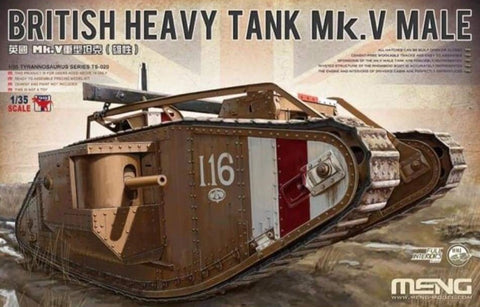 Meng TS-020 1/35 British Heavy Tank Mk.V 'Male' - BlackMike Models