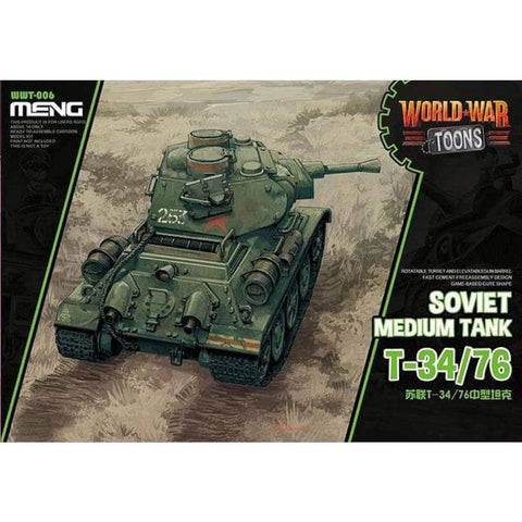 Meng WWT006 Soviet Medium Tank T34/76 World War Toons - Kids Kits