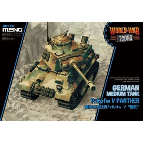 Meng WWT007 German Medium Tank Panther V World War Toons - BlackMike Models