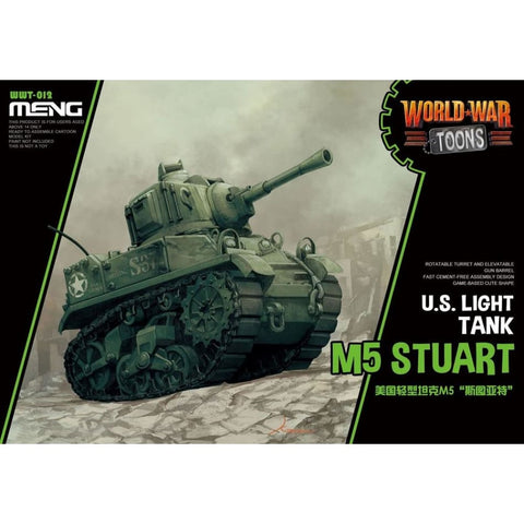 Meng WWT012 US Light Tank M5 Stuart World War Toons - Kids Kits