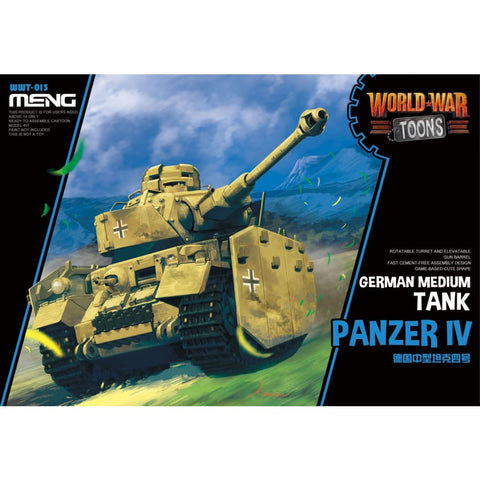 Meng WWT013 German Panzer IV Medium Tank World War Toons - Kids Kits