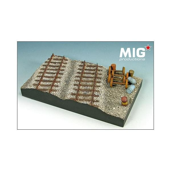 Mig Productions MP72-354 1/72 Railway Station Diorama Base - BlackMike Models
