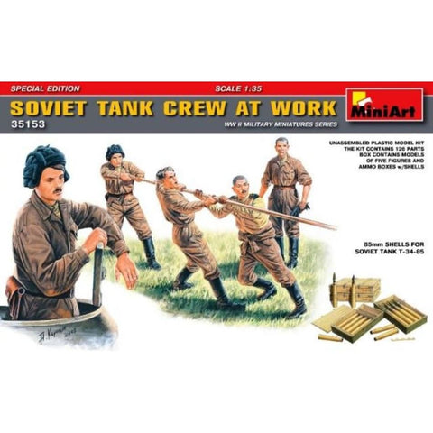 Miniart 35153 1/35 Soviet Tank Crew At Work Special Edition - BlackMike Models