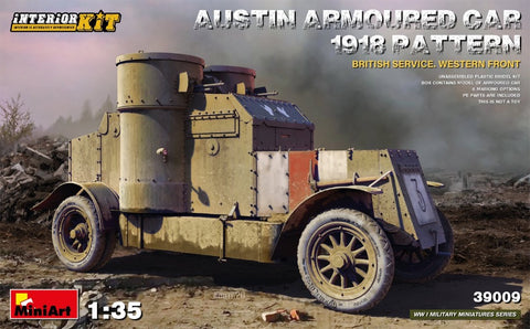 Miniart 39009 1/35 Austin Armoured Car 1918 pattern British Service, Western Front - BlackMike Models