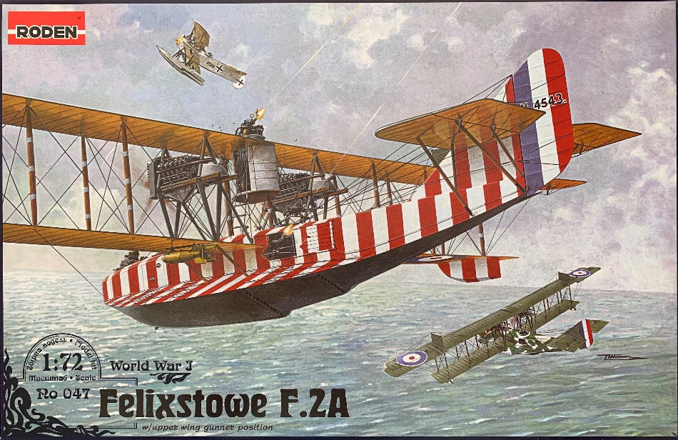 Roden 047 1/72 Felixstowe F.2A with upper wing gunner position - BlackMike Models
