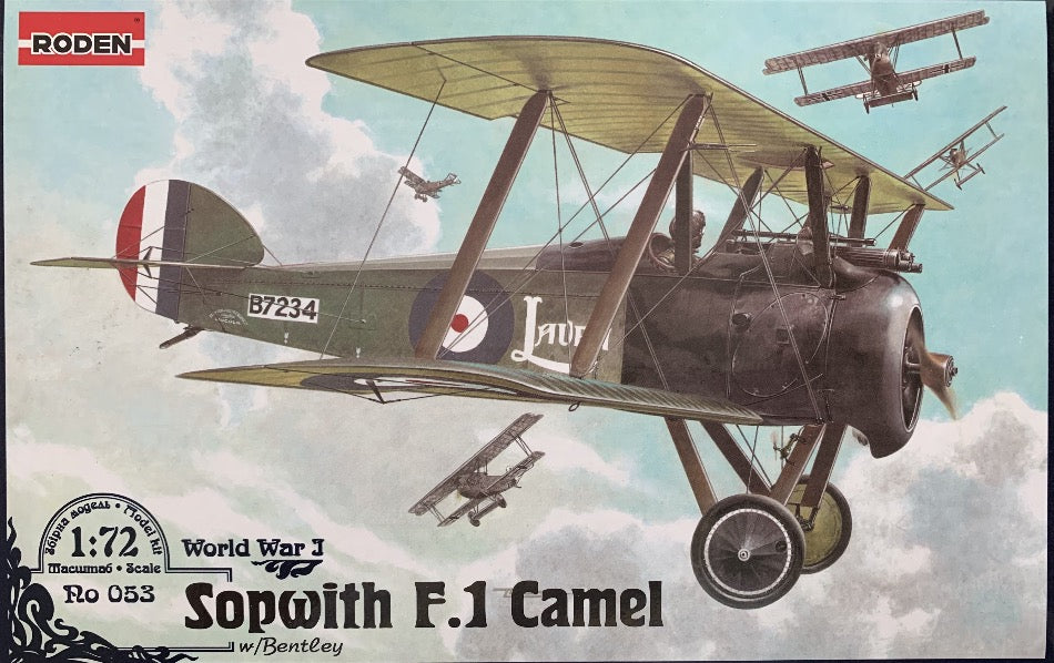 Roden 053 1/72 Sopwith F.1 camel with Bentley engine - BlackMike Models