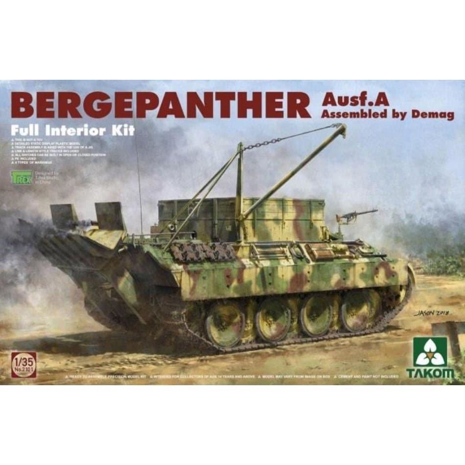 Takom 2101 1/35 BergePanther Ausf.A assembled by Demag - 1/35 Military