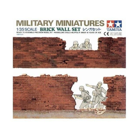 Tamiya 35028 1/35 Military Miniatures Brick Wall Set - BlackMike Models