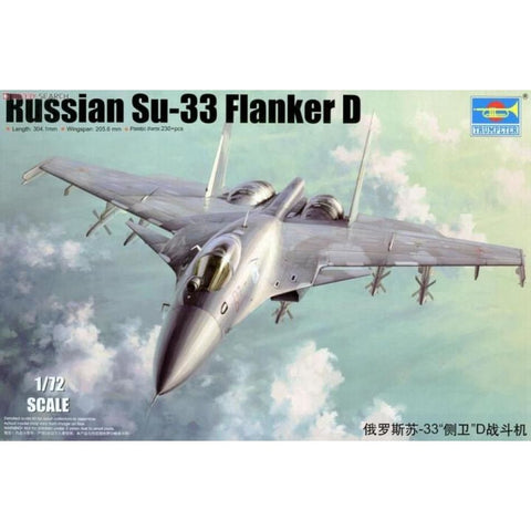 Trumpeter 01667 1/72 Sukhoi Su-33 Flanker D - 1/72 Aircraft
