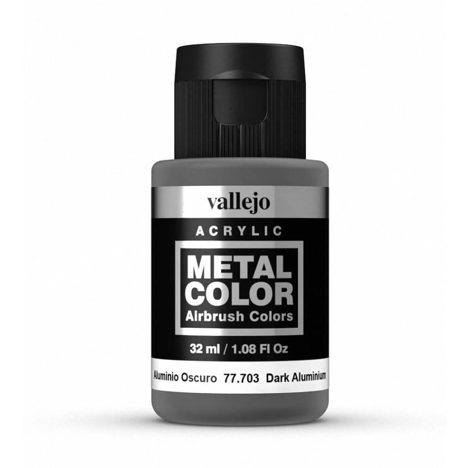 Vallejo 77703 Metal Color - Dark Aluminium 32ml - Paints and Varnishes