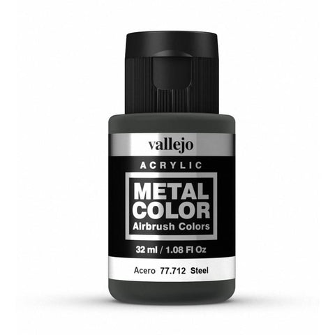 Vallejo 77712 Metal Color - Steel 32ml - Paints and Varnishes